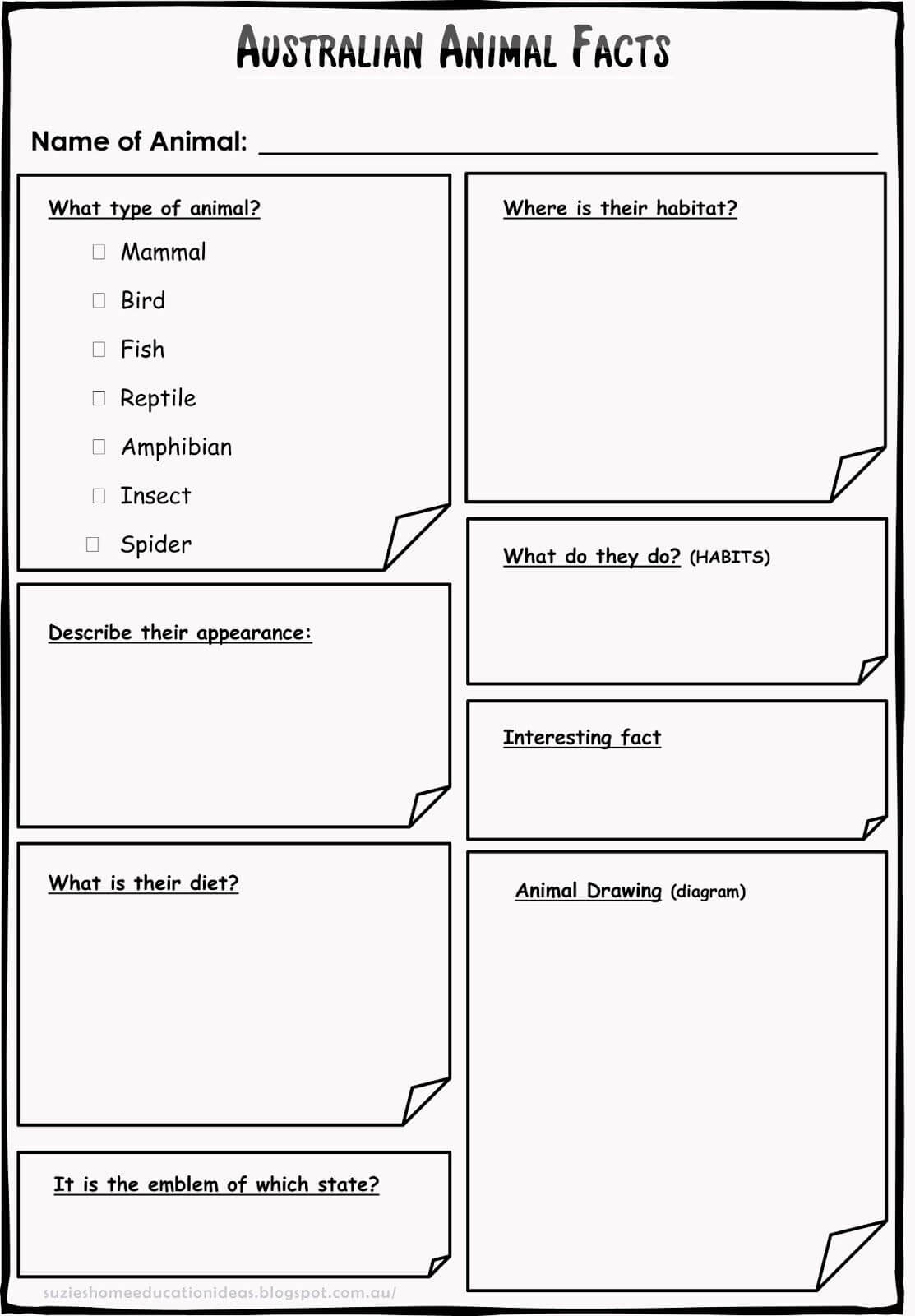 Printable - Template For Recording Information/facts On Pertaining To Template For Information Report