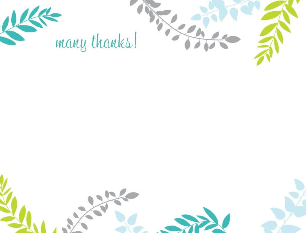 Printable Thank You Card Template | Harmonia Gift For Thank You Note Card Template