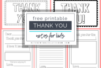 Printable Thank You Cards For Kids – The Kitchen Table Classroom for Free Printable Thank You Card Template