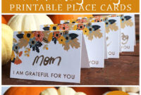 Printable Thanksgiving Place Card | Thanksgiving Place Cards for Thanksgiving Place Card Templates