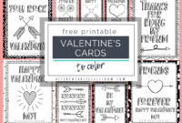 Printable Valentine Cards To Color – The Kitchen Table Classroom throughout Valentine Card Template For Kids