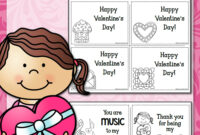 Printable Valentine's Day Cards – Mamas Learning Corner pertaining to Valentine Card Template For Kids