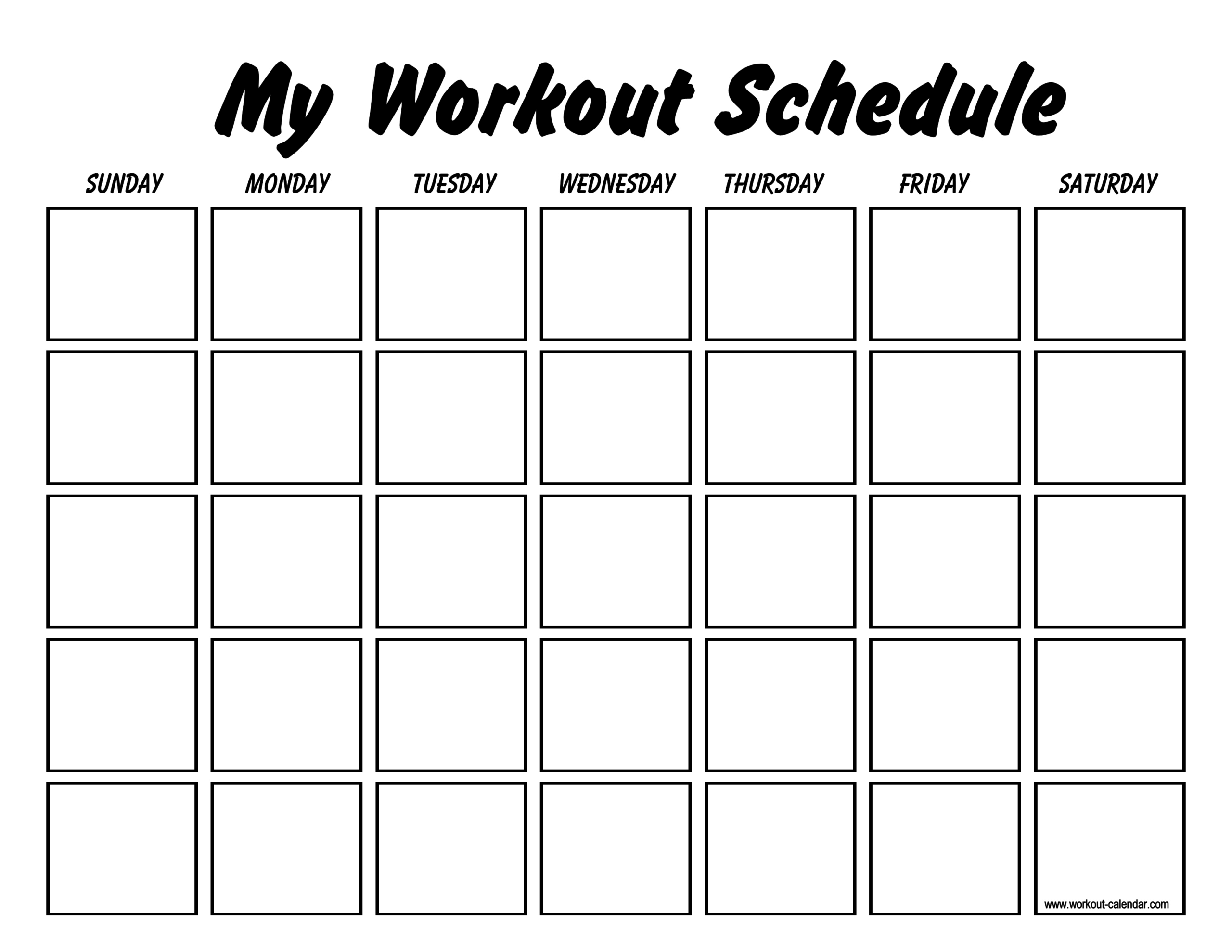 Printable Workout Log Sheets | Templates At Intended For Blank Workout Schedule Template