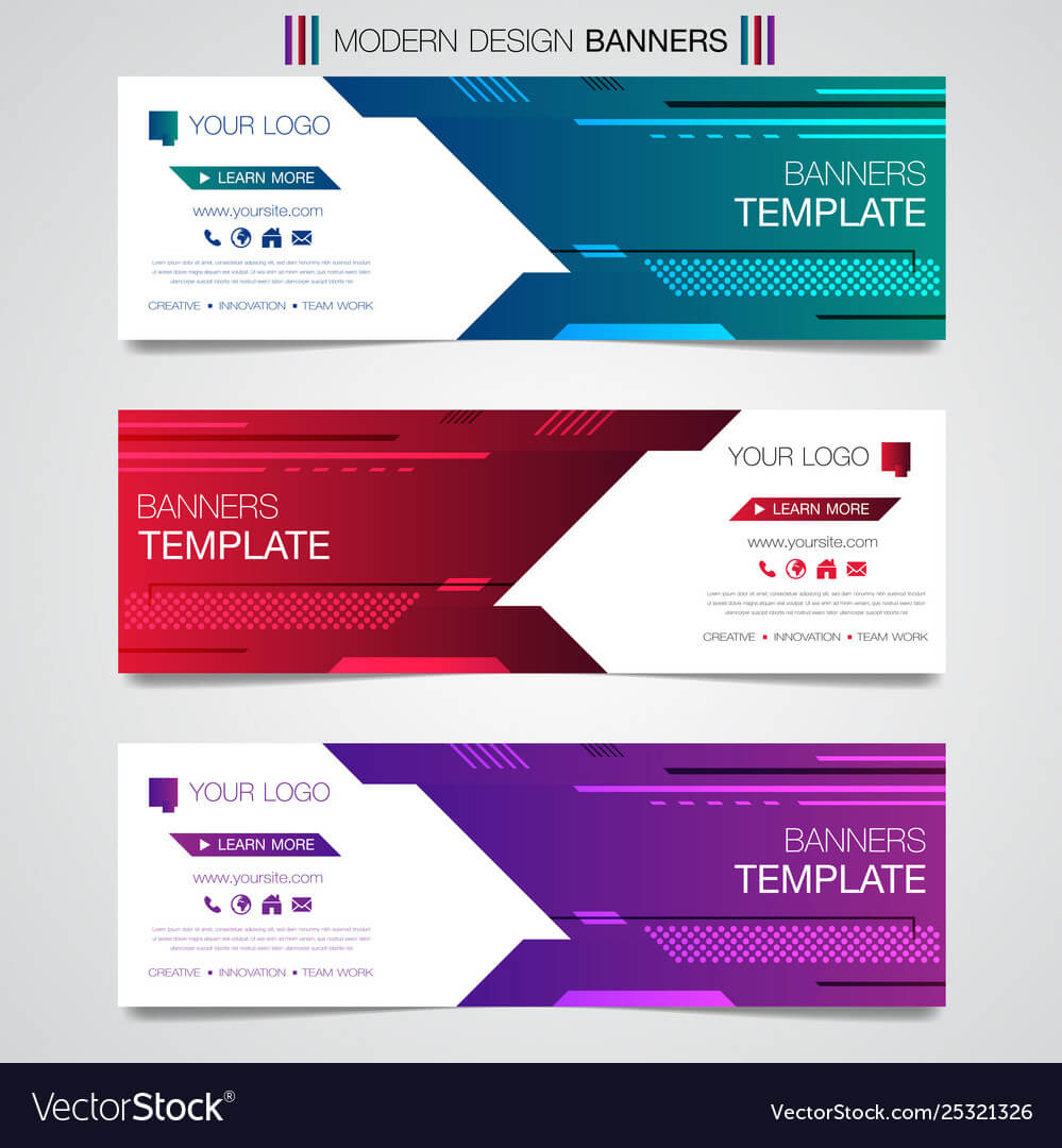 Printabstract Horizontal Business Banner Template With Regard To Product Banner Template
