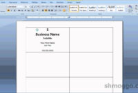 Printing Business Cards In Word | Video Tutorial | Printing within Word Label Template 12 Per Sheet
