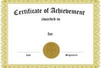 Prize Certificate Template Free – Zimer.bwong.co regarding Free Certificate Templates For Word 2007