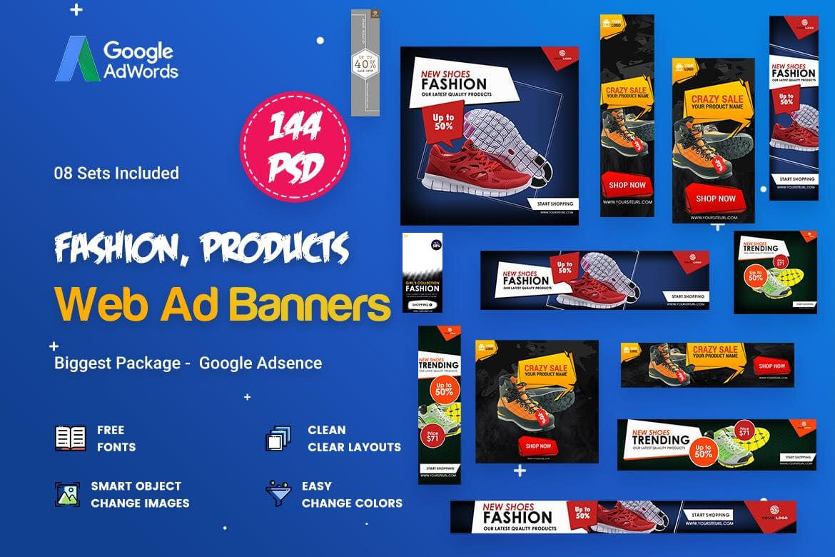 Product Banners Ads Template Psd | Banner Template, Web For Product Banner Template