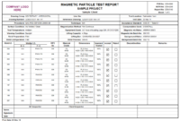 Product Detail Inside Welding Inspection Report Template