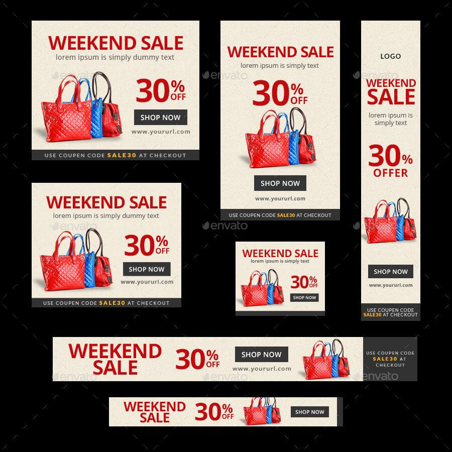 Product Sale Banners Bundle – 4 Sets #sale, #product Intended For Product Banner Template