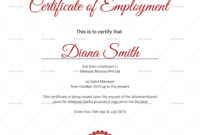 Productive Employment Certificate Template | Certificate regarding Sales Certificate Template