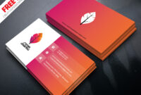 Professional Business Card Psd Free Download intended for Visiting Card Templates Psd Free Download