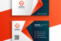 Professional Business Card Template Design in Visiting Card Templates Download