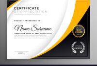 Professional Certificate Template Diploma Award for Professional Award Certificate Template