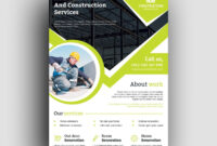 Professional Construction Flyer Design Template 001493 pertaining to Professional Brochure Design Templates