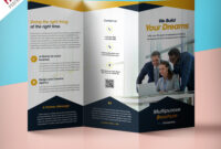 Professional Corporate Tri-Fold Brochure Free Psd Template pertaining to Three Panel Brochure Template