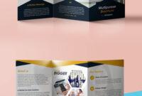 Professional Corporate Tri Fold Brochure Free Psd Template with 2 Fold Brochure Template Free