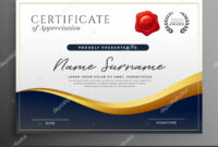 Professional Diploma Certificate Template Design — Stock with regard to Design A Certificate Template