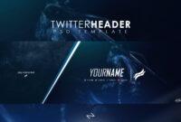 Professional Gaming Twitter Header Templatelastzak within Twitter Banner Template Psd
