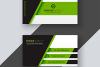 Professional Green Business Card Template Inside Buisness Card Template