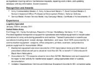 Professional Military Logistician Templates To Showcase Your pertaining to Army Good Conduct Medal Certificate Template