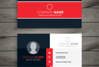 Professional Red Business Card Template intended for Designer Visiting Cards Templates