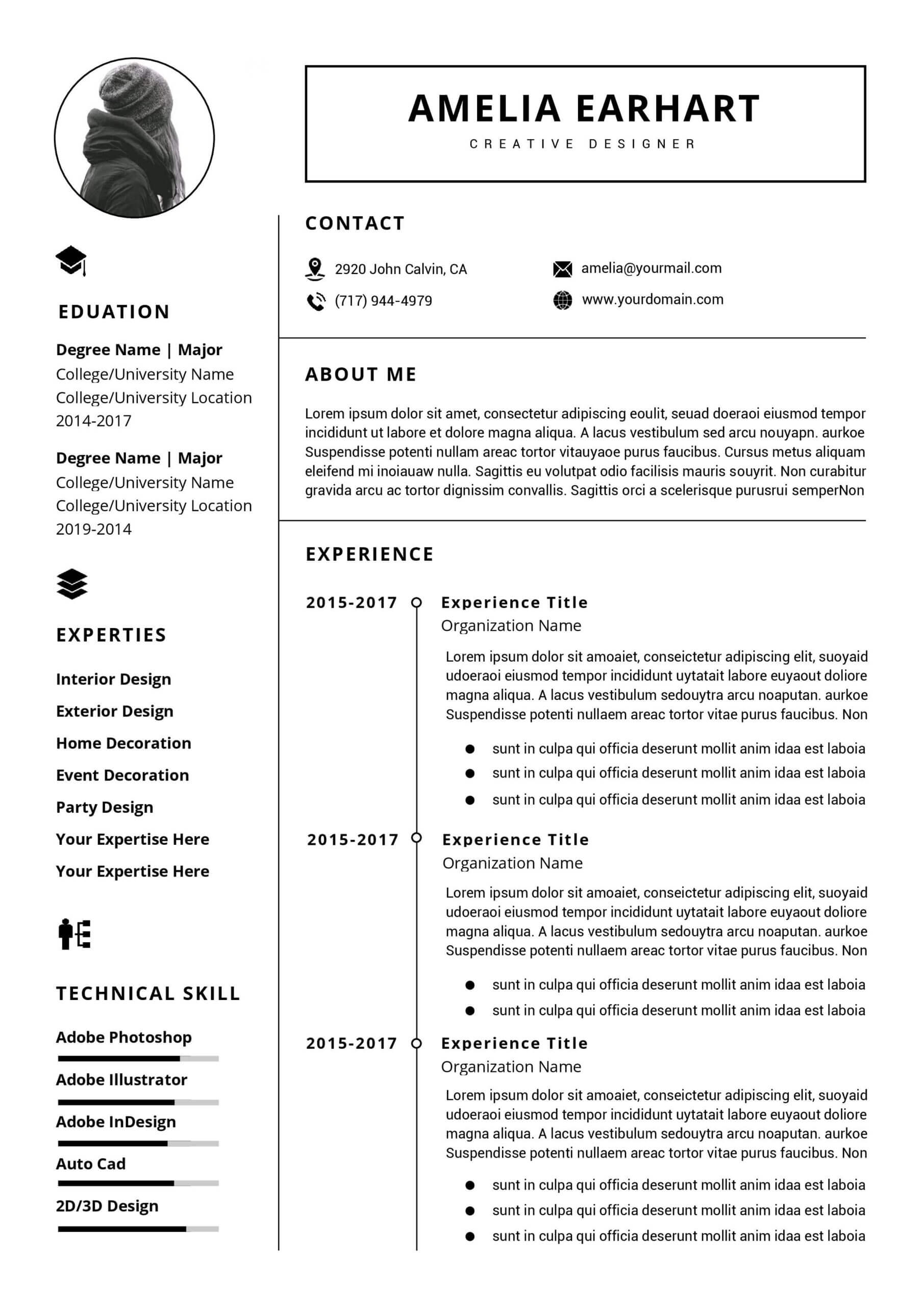 Professional Resume Template Instant Download, 3 Page Resume With Regard To How To Get A Resume Template On Word