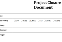 Project Closure Report Template intended for Closure Report Template