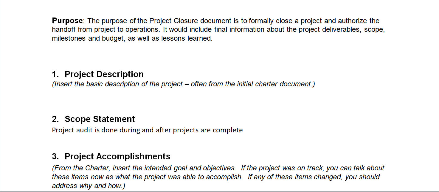 Project Closure Report Template Throughout Closure Report Template