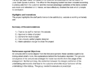 Project Evaluation Report Template V1.0 – 200392 – Uws – Studocu with regard to Website Evaluation Report Template