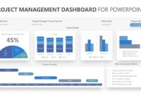 Project Management Dashboard For Powerpoint. Related throughout Powerpoint Dashboard Template Free