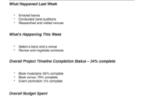 Project Management Reporting Types & Tips | Teamgantt with regard to Project Management Final Report Template