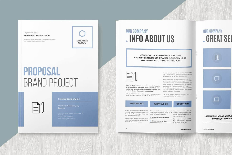 Proposal | Каталог | Brochure Template, Proposal Templates For Brochure Templates For Word 2007