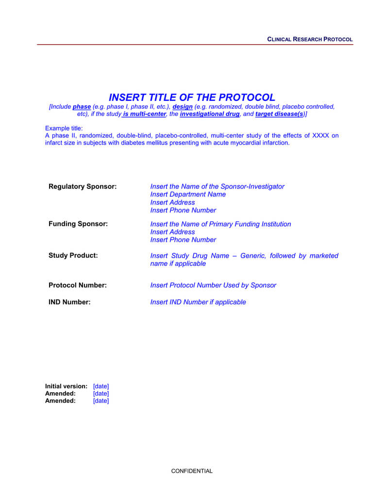 Protocol Template Within Dsmb Report Template