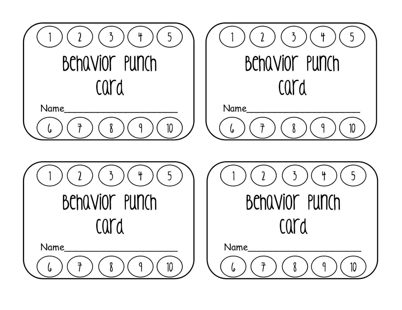 Punch Card Clipart With Regard To Free Printable Punch Card Template