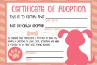 Puppy Adoption Certificate … | Adoption Certificate, Puppy throughout Pet Adoption Certificate Template