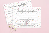Puppy Adoption Certificate Printable Pet Adoption Center regarding Pet Adoption Certificate Template