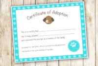 Puppy Adoption Certificate Template – Google Search | Puppy pertaining to Pet Adoption Certificate Template