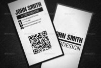 Qr Code Minimalistic Business Card #ad #code, #sponsored Intended For Qr Code Business Card Template