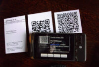 Qr Codes On Business Cards | Business Cards, Two Versions, W intended for Qr Code Business Card Template