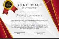 Qualification Certificate Appreciation Design Elegant Luxury regarding High Resolution Certificate Template