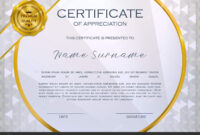Qualification Certificate Appreciation Design Elegant Luxury throughout Qualification Certificate Template