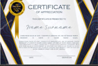 Qualification Certificate Appreciation Design Elegant Luxury with High Resolution Certificate Template