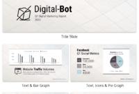 Quarterly Digital Marketing Report Business Presentation for Business Quarterly Report Template