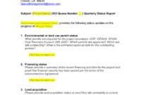 Queue Management Quarterly Status Report Template in It Management Report Template