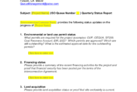 Queue Management Quarterly Status Report Template with regard to Implementation Report Template