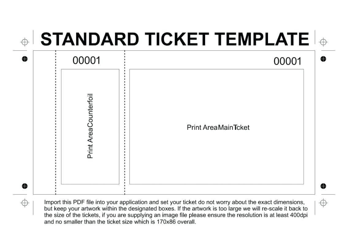 Raffle Tickets Printable Free – Zimer.bwong.co With Free Raffle Ticket Template For Word