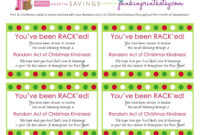 Random Act Of Christmas Kindness Cards | Get The Rack'd within Random Acts Of Kindness Cards Templates