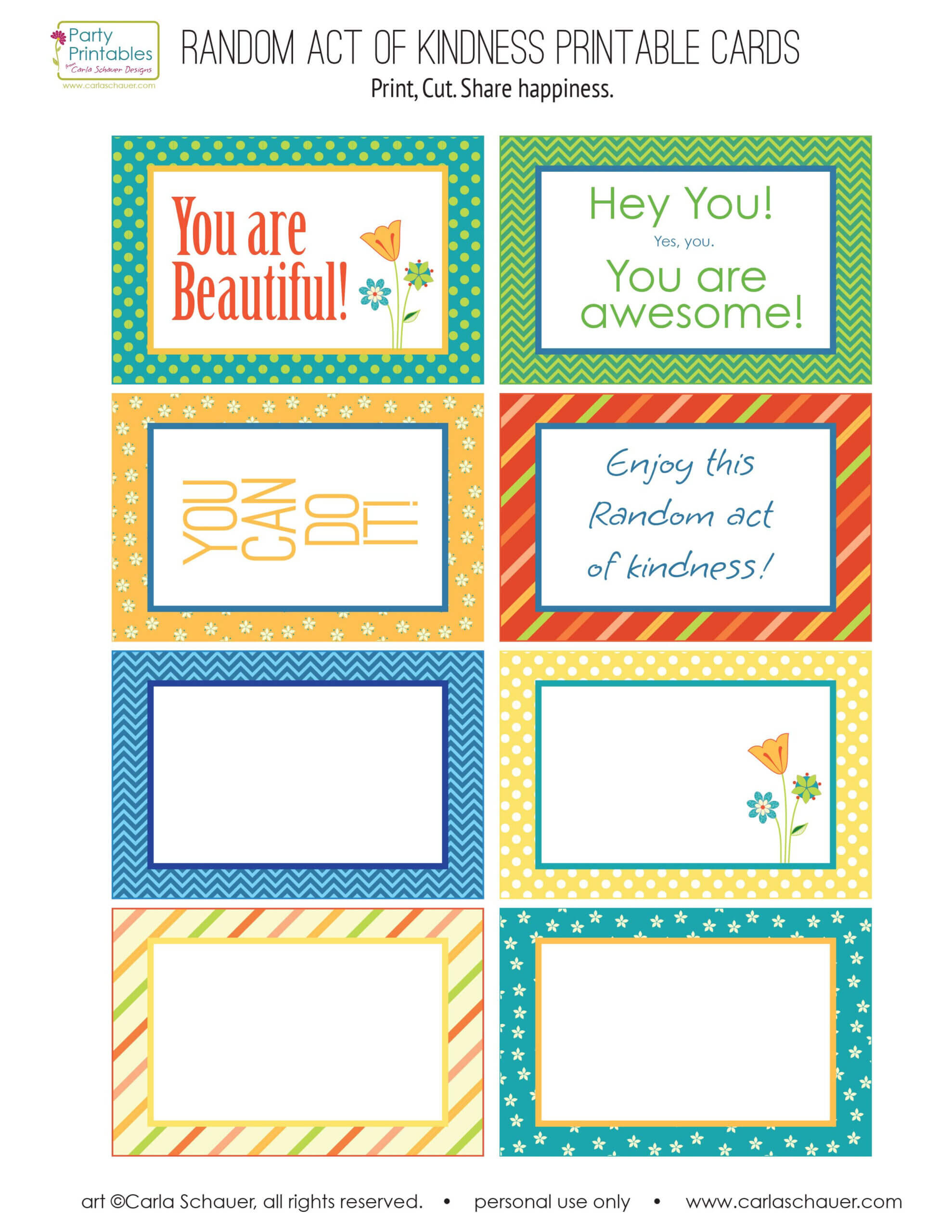 Random Act Of Kindness Printable Cards - Google Search Regarding Random Acts Of Kindness Cards Templates