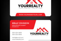 Real Estate Business Card And Logo Template Regarding Real Estate Agent Business Card Template