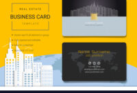 Real Estate Business Card Or Name Card Template For Real Estate Agent Business Card Template